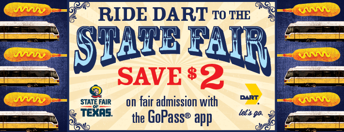 DART coupon for State Fair for $2 off.| State Fair of Texas-Dallas