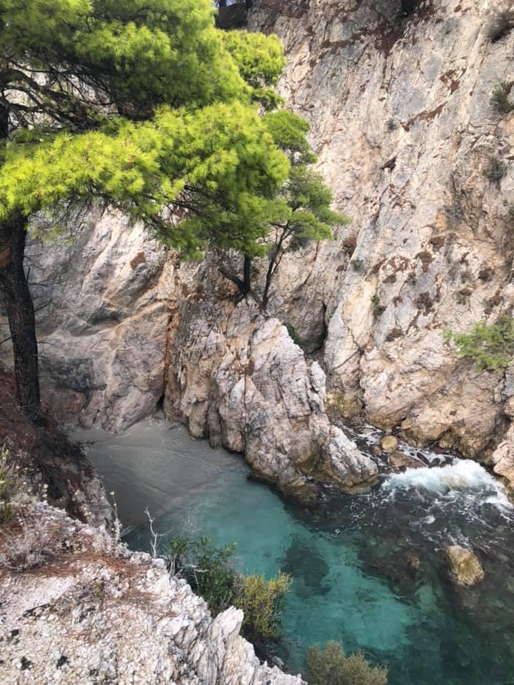 View of Three Pines at Amarandos Cape. | Skopelos Island, Greece- Mamma Mia Island
