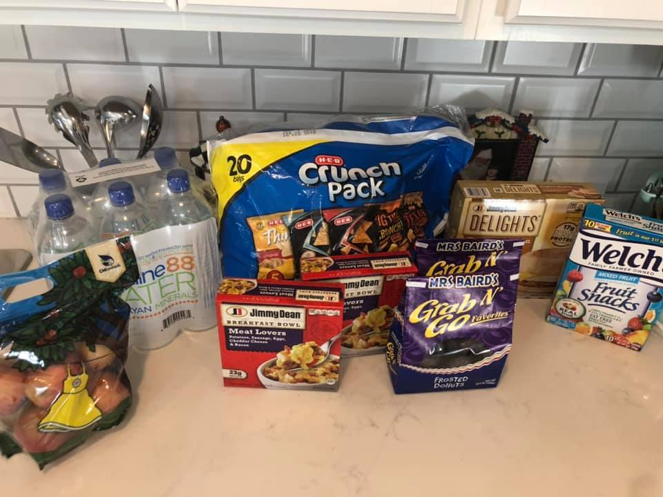 Snack foods on kitchen counter. | Christmas at the Gaylord Texan Hotel