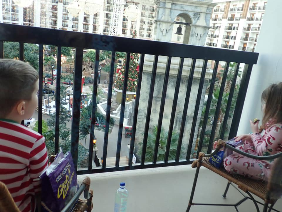 View of the Atrium from the hotel balcony at the Gaylord Texan in Texas. | Christmas at the Gaylord Texan Hotel