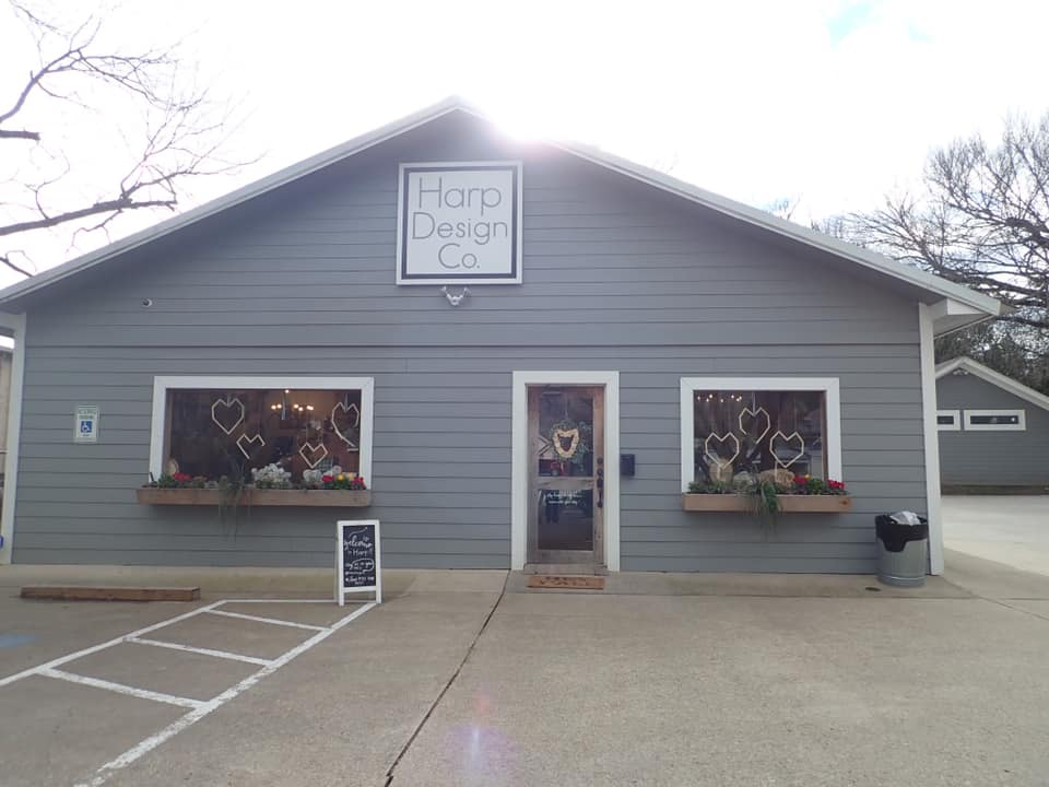 Outside view of Harp Design Co in Waco. | Waco, TX; Birthday Weekend in Magnolia
