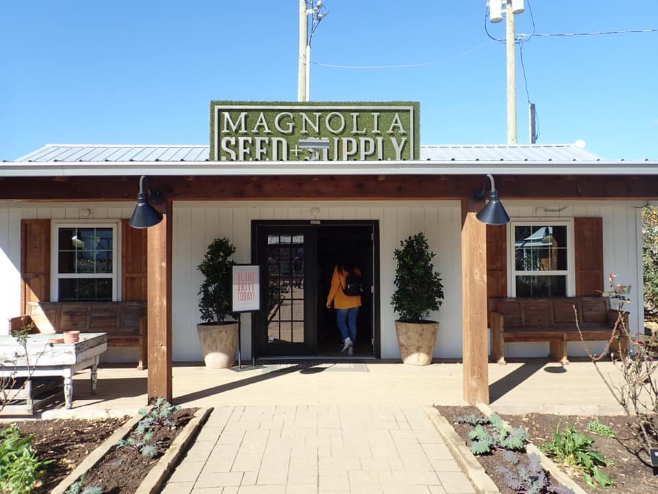 Outside the Magnolia Seed and Supply store in Waco. | Waco, TX; Birthday Weekend in Magnolia