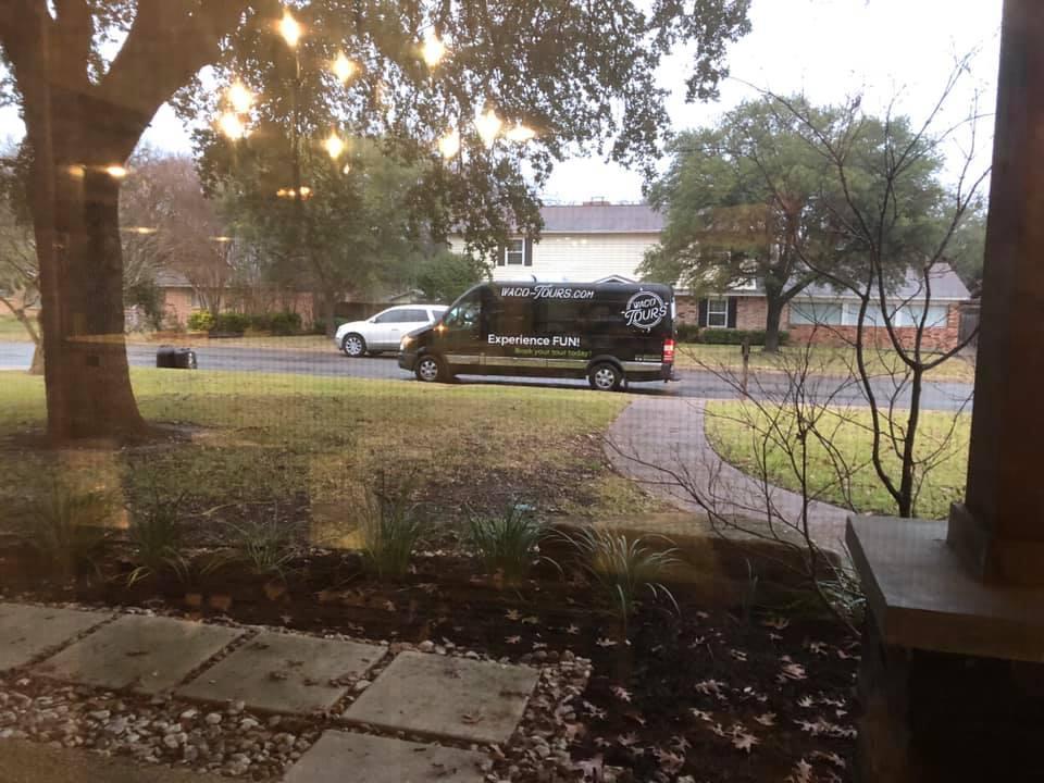 Waco Tour bus on the street in Waco. | Waco, TX; Birthday Weekend in Magnolia
