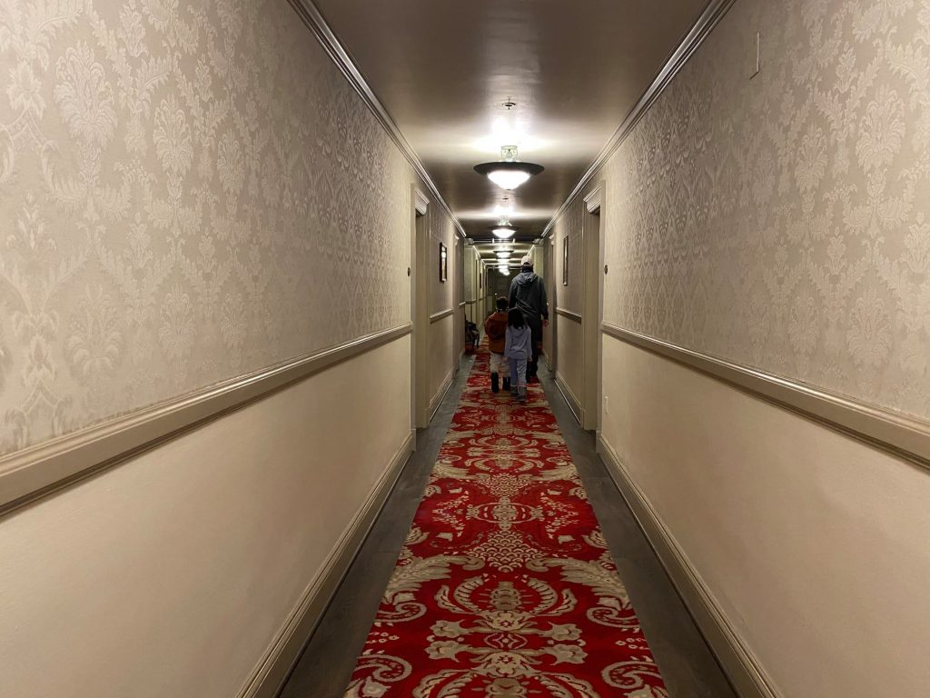 Hallway of the 4th floor of the Shining Hotel.| Best Places to Visit in Colorado