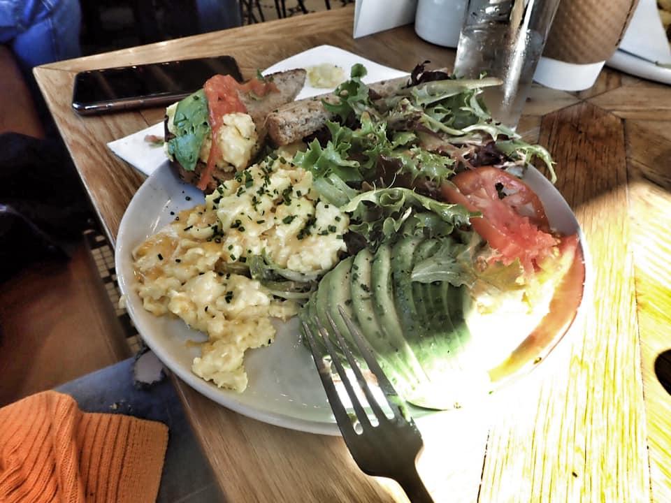 Plate of food at Magnolia Table restaurant in Waco. | Waco, TX; Birthday Weekend in Magnolia