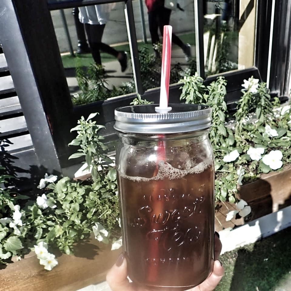 Jar of sweet tea at Magnolia Market in Waco. | Waco, TX; Birthday Weekend in Magnolia