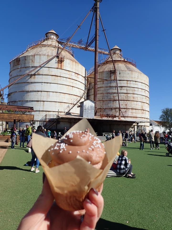 Food truck food at Magnolia Market in Waco. | Waco, TX; Birthday Weekend in Magnolia