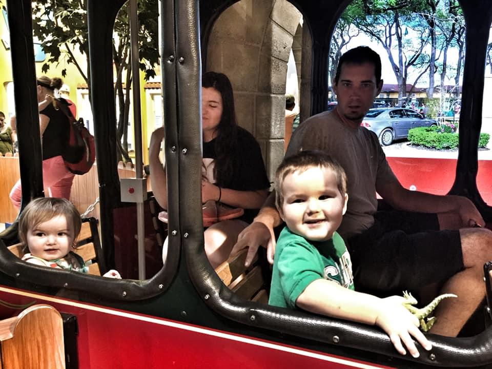 People riding the train in San Antonio.   Week in San Antonio, Texas