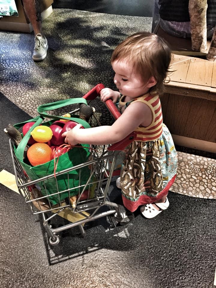 Little girl playing in the DoSeum in San Antonio.   Week in San Antonio, Texas