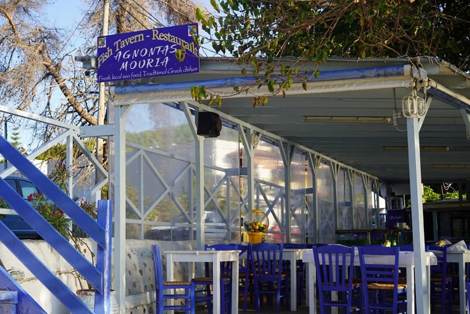 Restaurant at Agnontas Beach. | Skopelos Island, Greece- Mamma Mia Island