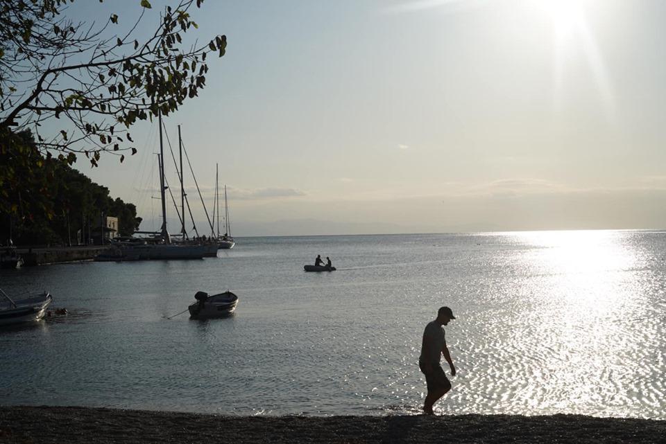 View of Agnontas Beach. | Skopelos Island, Greece- Mamma Mia Island