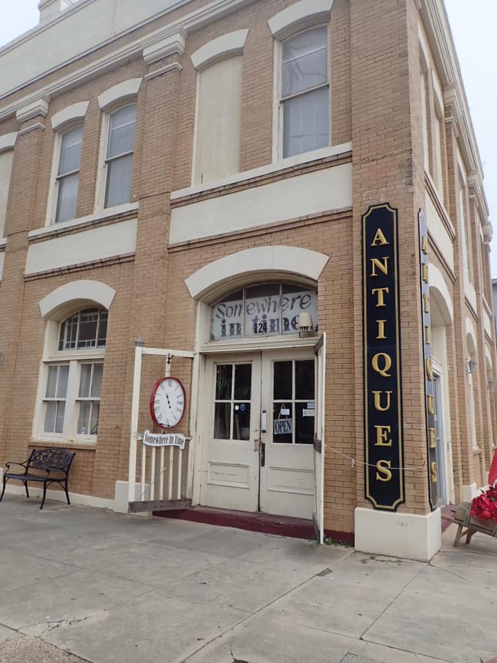 """Outside view of the Antique Store in Galveston.   Adult Weekend in Galveston, Texas; on """"The Strand"""""""