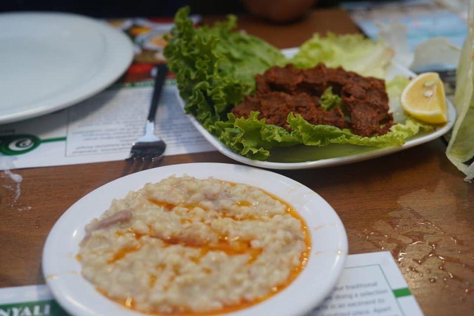 Plates of food from the Konyali Ahmet Usta restaurant.  | Istanbul, Turkey