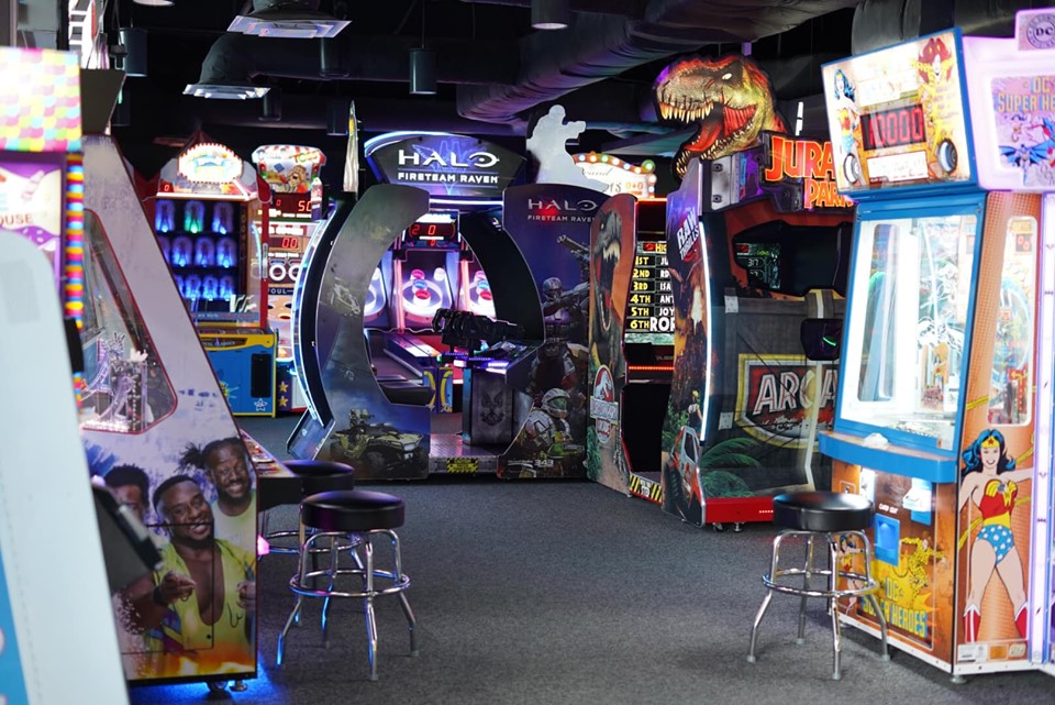 View of arcade at Epic.| Epic Waterpark in Dallas, Texas