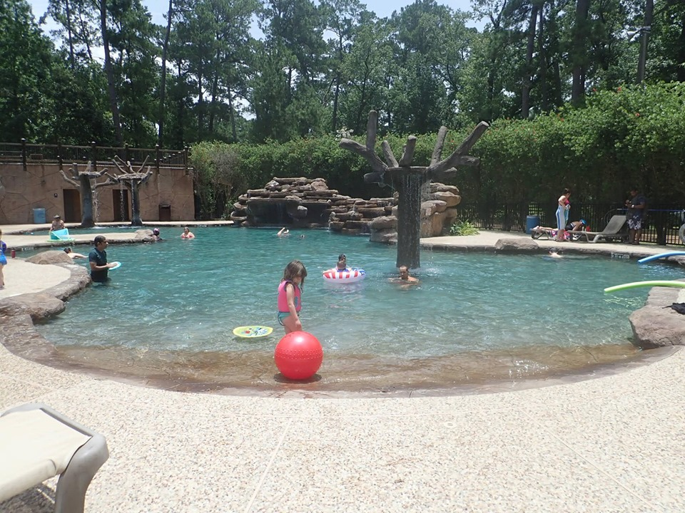 People swimming in the pool at the lake.| The Retreat at Artesian Lakes in Texas