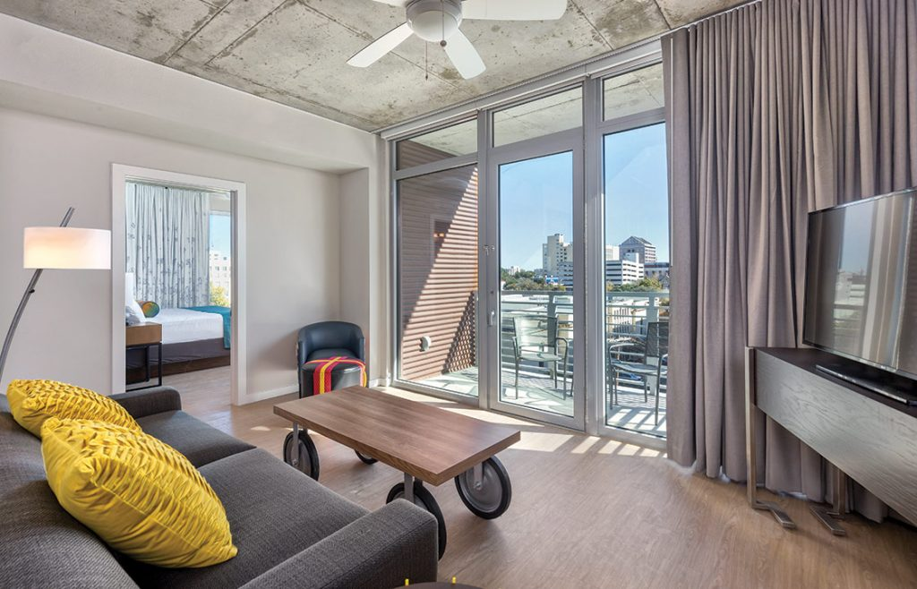 Inside airbnb condo downtown in Austin.  Weekend Guide to Austin, Texas