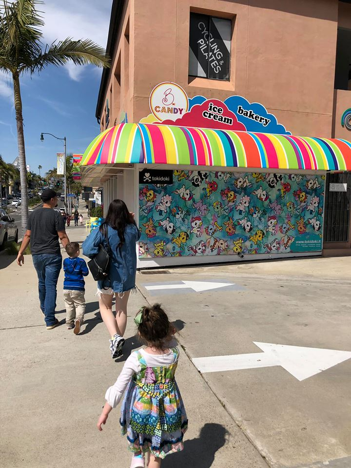 Outside the storefront of B. Candy Store in Newport Beach.| 24 Hours in Orange County, CA