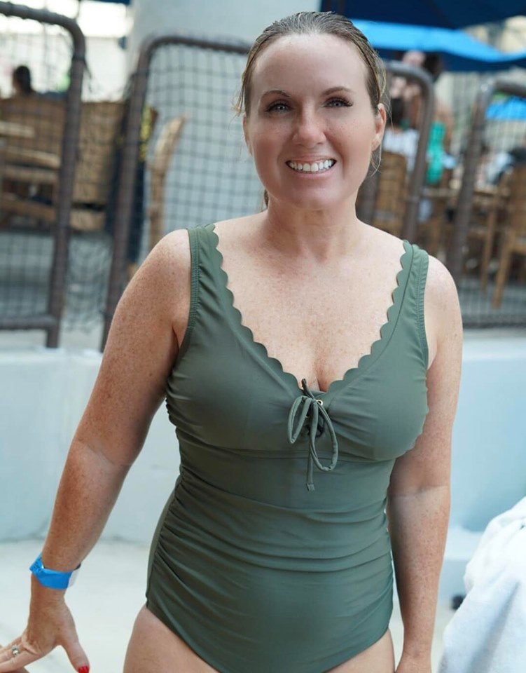 Woman posing in bathing suit at Epic.| Epic Waterpark in Dallas, Texas
