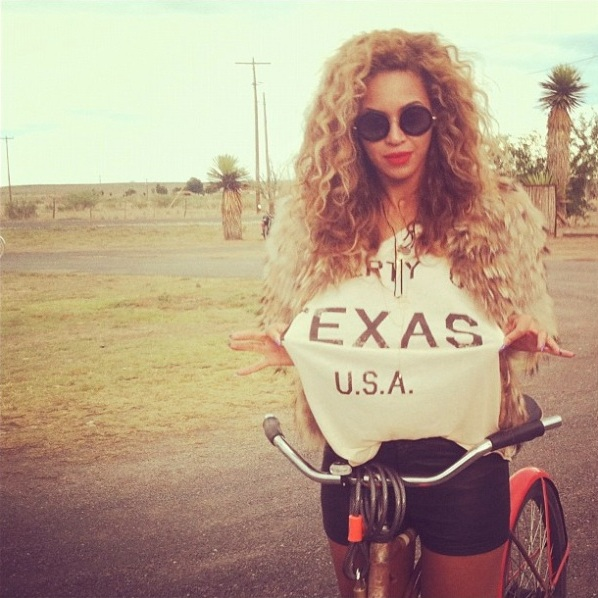 Beyonce riding a bike in Marfa. | Marfa, Texas- Where to Stay, What to do, & What to Eat