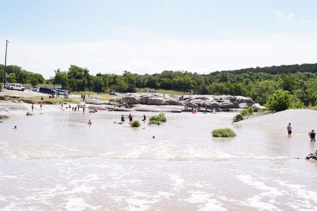 View of Big Rock Park.   A Guide to Granbury, Texas