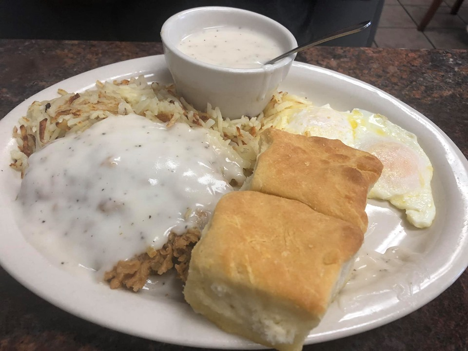 Plate of food from Blue Bonnet Cafe at Cypress Valley. | Cypress Valley Canopy Tour in Austin, Texas