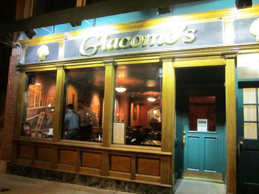 Outside view of Giacomo's restaurant in Boston. | Boston, Massachusetts- Adult Getaway