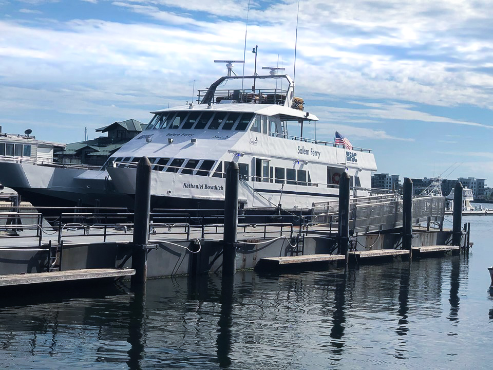 Boston Ferry in the water at the New England Aquarium in Boston. | What to do in Salem, MA