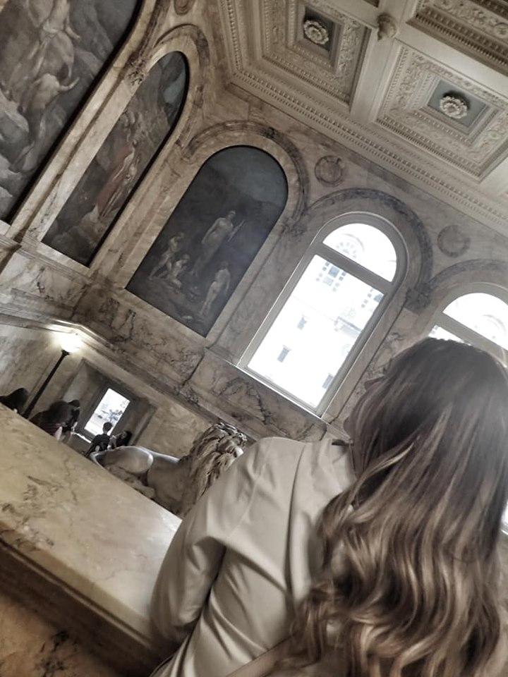 Woman inside the Boston Public Library in Boston. | Boston, Massachusetts- Adult Getaway