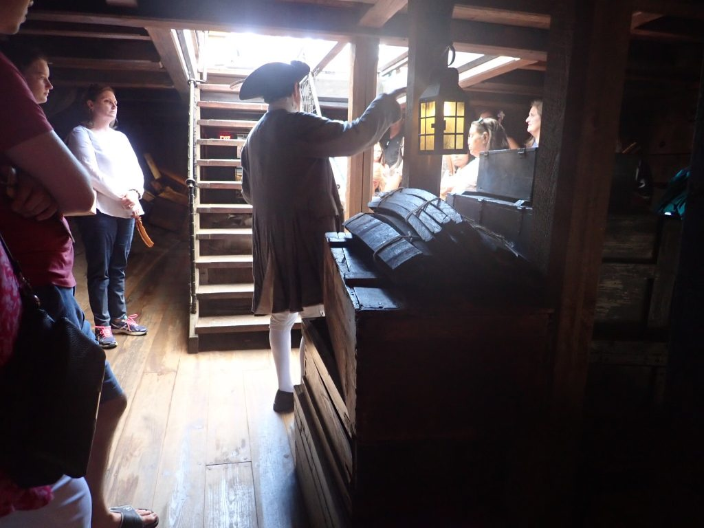 Inside the Boston Tea Party ship in Boston. | Boston, Massachusetts- Adult Getaway