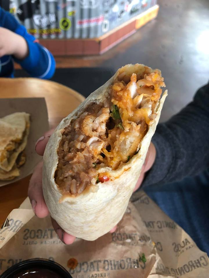 Large burrito from Chronic Tacos at Huntington Beach Pier in Orange County.| 24 Hours in Orange County, CA