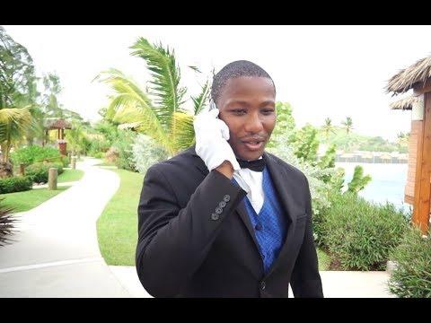 Butler at Sandals resort in Jamaica.   Jamaica Over-Water-Bungalows