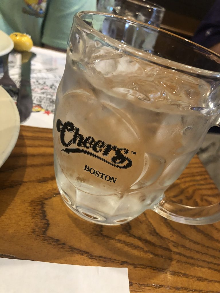 Plate of food from Cheers bar in Boston. | Boston, Massachusetts- Adult Getaway