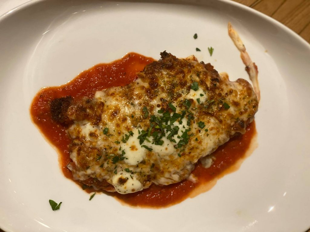 Plate of chicken parmesan.| Best Places to Visit in Colorado