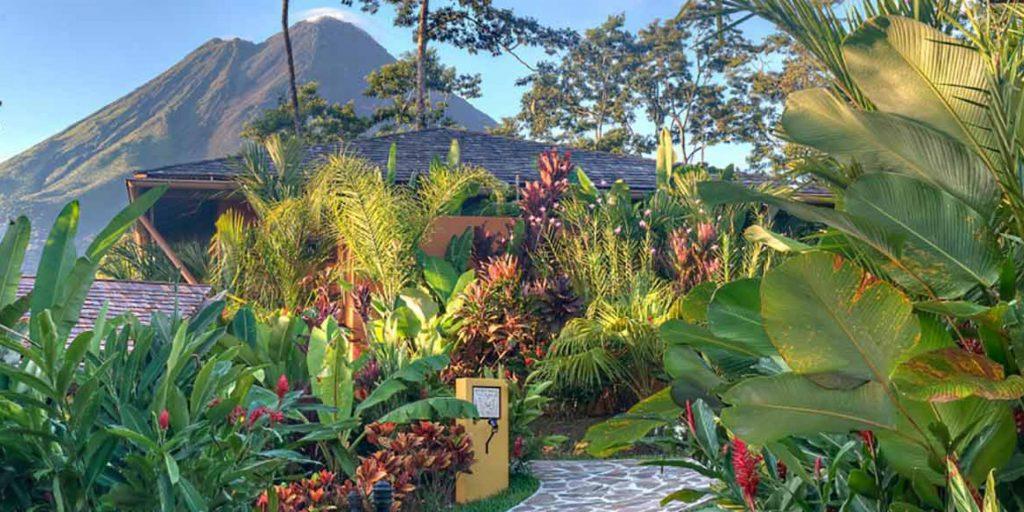 View of Costa Rica at Nayara Spa and Gardens in La Fortuna.   Costa Rica, Arenal Volcano