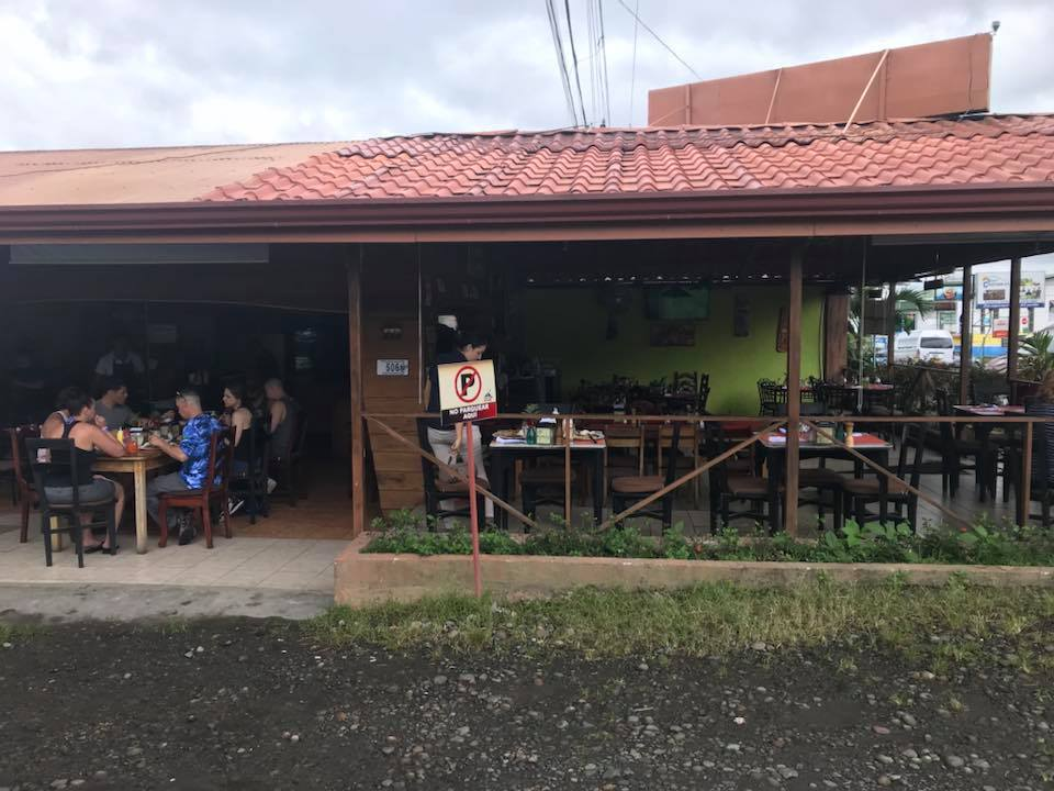 Outside view of local restaurant at La Fortuna Waterfall in Costa Rica.   Costa Rica, Arenal Volcano
