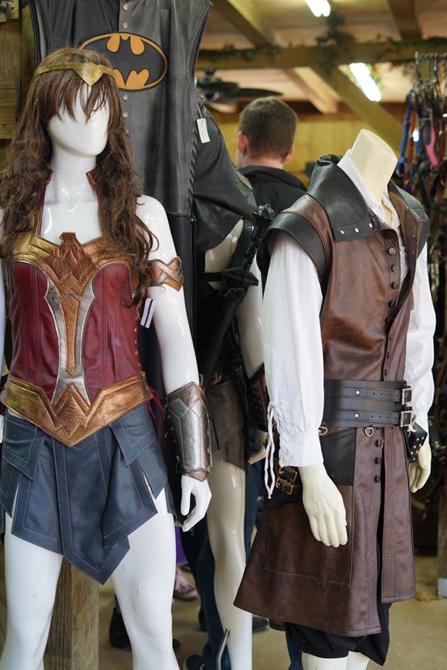 Costume displays inside the costume store. | Texas Renaissance Festival