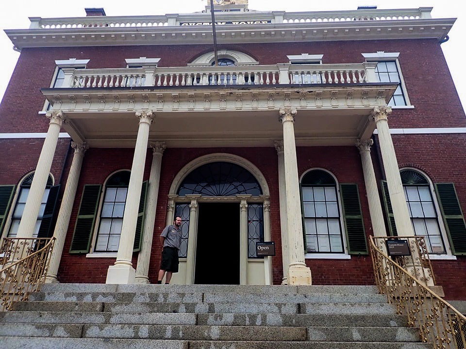Outside the Custom House in Salem. | What to do in Salem, MA