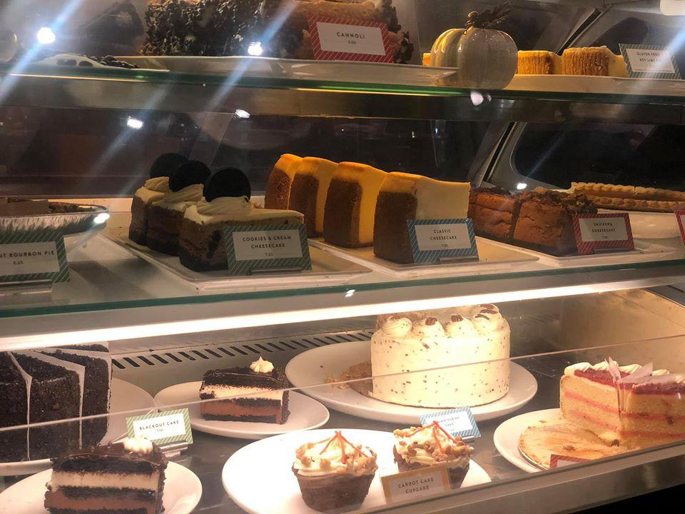 Dessert display at Black Walnut Cafe in Woodlands.   Girls Weekend Getaway- Woodlands, TX