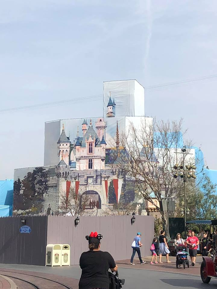 Disneyland Castle Under Construction at Disneyland.   Disneyland Resort Hotels, Anaheim; What you need to know.