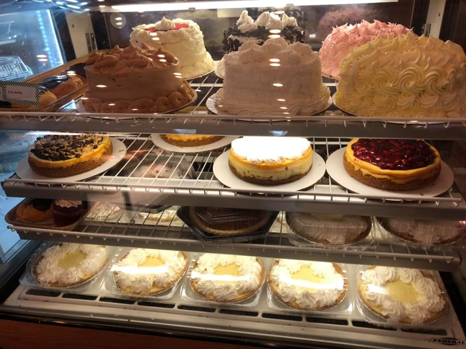 Dessert display at Donut Hole Bakery Cafe in Destin.   Destin, Florida with the Kids