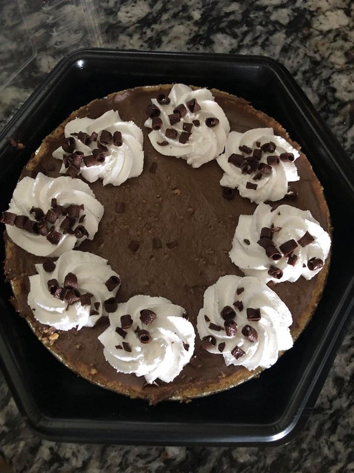 Chocolate pie from Donut Hole Bakery Cafe in Destin.   Destin, Florida with the Kids