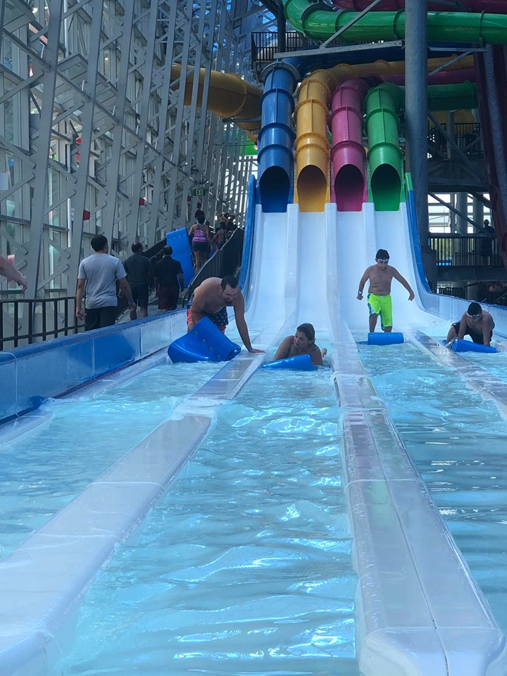 View of E Racer ride at Epic.| Epic Waterpark in Dallas, Texas