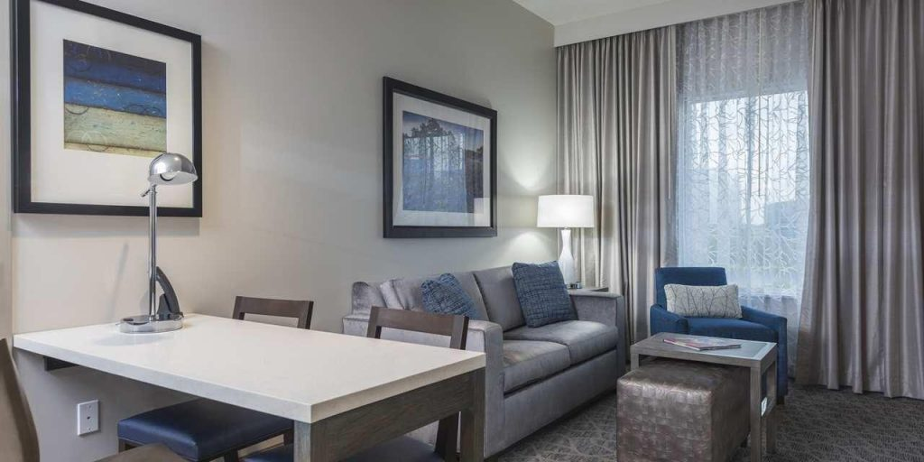 Hotel room at the Embassy Suites.   Girls Weekend Getaway- Woodlands, TX