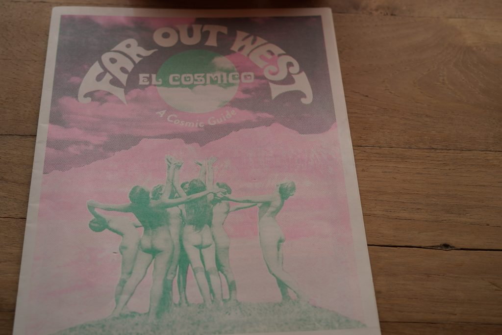 El Cosmico magazine at El Cosmico in Marfa. | Marfa, Texas- Where to Stay, What to do, & What to Eat