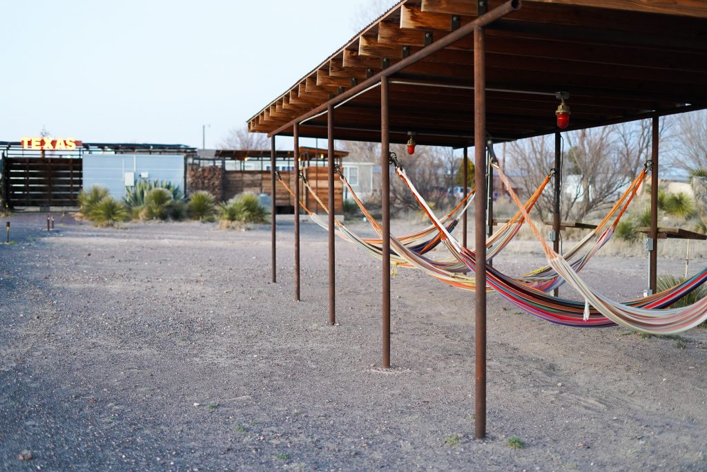 Hammocks at El Cosmico in Marfa. | Marfa, Texas- Where to Stay, What to do, & What to Eat