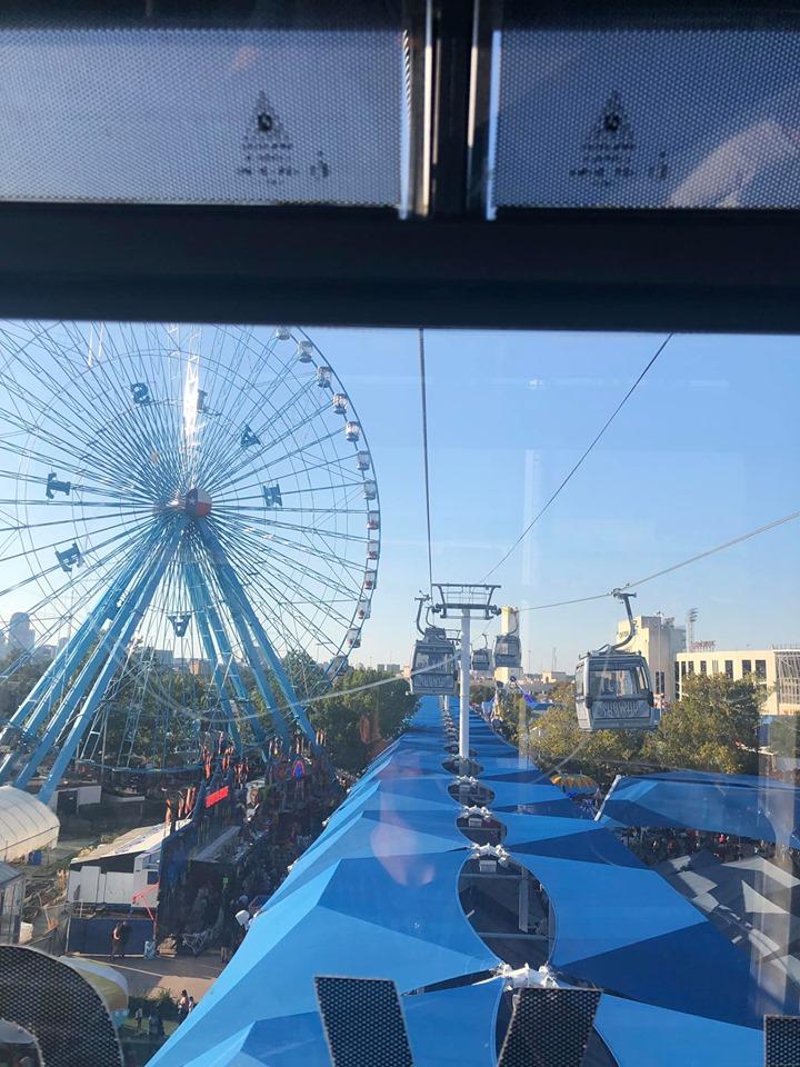 View of the Ferris Wheel ride at the fair. | State Fair of Texas-Dallas