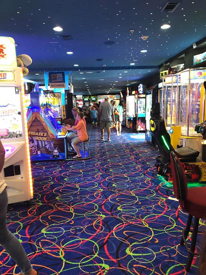 Inside view of Fat Daddies arcade in Destin.   Destin, Florida with the Kids