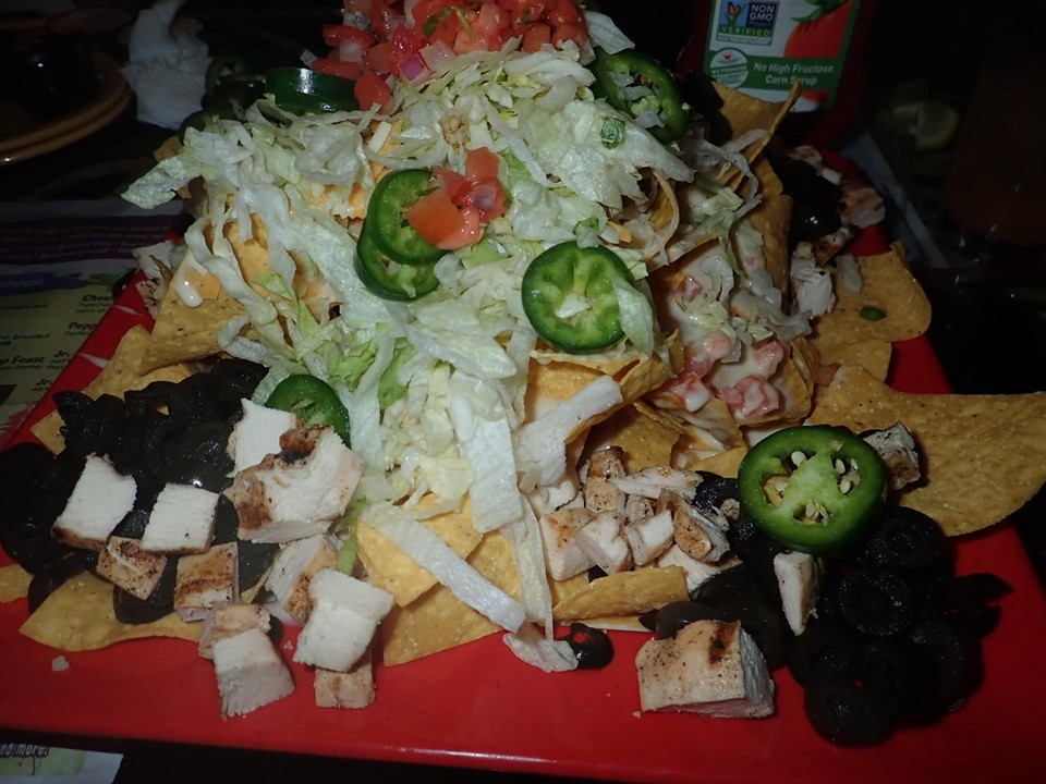 Plate of food at Fudpuckers Bar and Grill in Destin.   Destin, Florida with the Kids