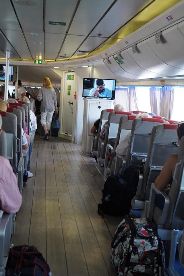 Inside Greece Ferry on Skiathos Island. | Skopelos Island, Greece- Mamma Mia Island
