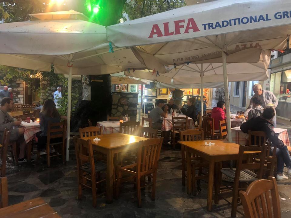 View of Platanos restaurant in Greece.| Skopelos Island, Greece- Mamma Mia Island